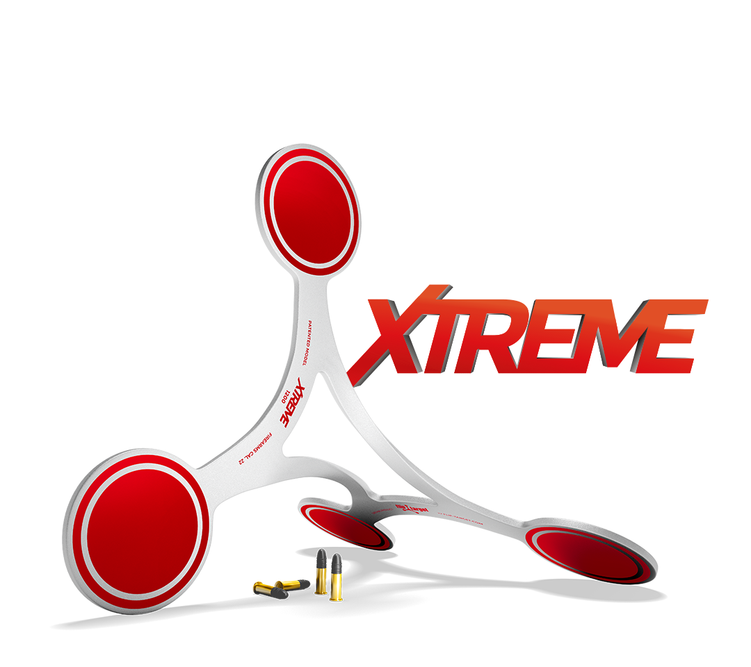 Flipping target for firearms of .22 cal., RENOVATED XTREME